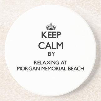Mantenga la calma relajándose en la playa conmemor posavasos manualidades