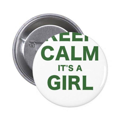 Mantenga la calma su un chica pin
