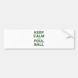 Mantenga la calma su una bola asquerosa etiqueta de parachoque