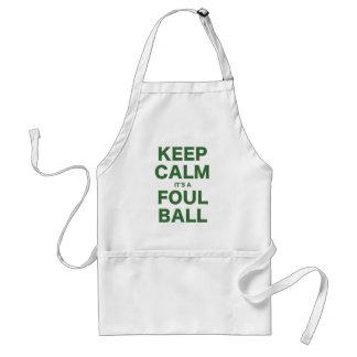 Mantenga la calma su una bola asquerosa delantal