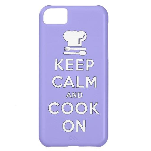 mantenga la calma y al cocinero que cocinan para c funda para iPhone 5C
