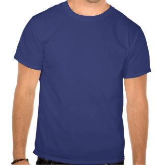 Mantenga la calma y el esquí rápidos - los hilos f camisetas