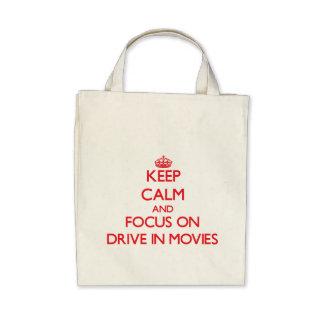 Mantenga la calma y el foco en la impulsión bolsas de mano