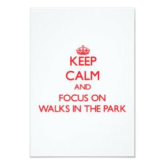"""Mantenga la calma y el foco en paseos el parque invitación 3.5"""" x 5"""""""