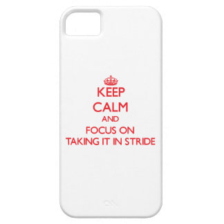 Mantenga la calma y el foco en tomarlo paso grande iPhone 5 protectores