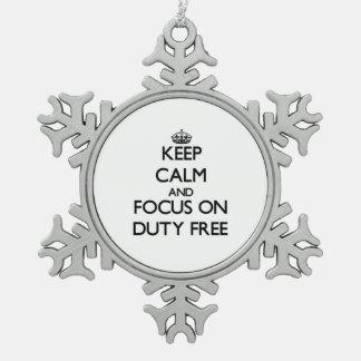 Mantenga la calma y el foco encendido con franquic adornos