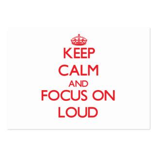 Mantenga la calma y el foco encendido ruidosos tarjeta de visita