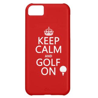 Mantenga la calma y el golf encendido - carcasa para iPhone 5C