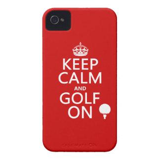 Mantenga la calma y el golf encendido - funda para iPhone 4
