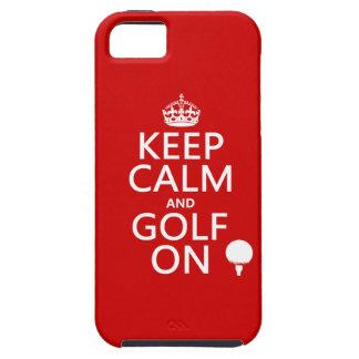 Mantenga la calma y el golf encendido - funda para iPhone SE/5/5s