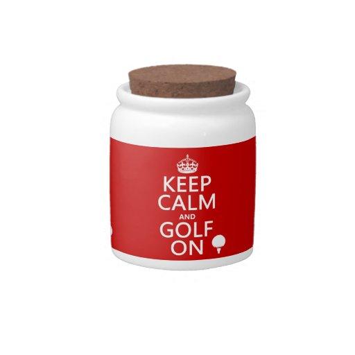 Mantenga la calma y el golf encendido - platos para caramelos