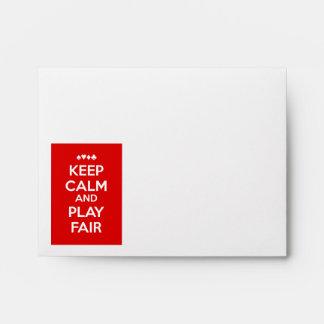 Mantenga la calma y el juego justos