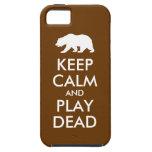 Mantenga la calma y el juego muertos iPhone 5 cárcasas