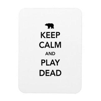 Mantenga la calma y el juego muertos imanes de vinilo