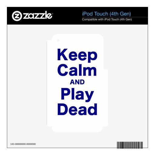 Mantenga la calma y el juego muertos skins para iPod touch 4G