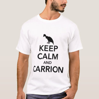 Mantenga la calma y la camiseta de los hombres del