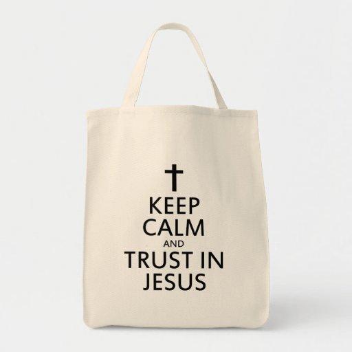 Mantenga la calma y la confianza Jesús