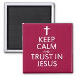 Mantenga la calma y la confianza Jesús Imanes De Nevera