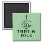 Mantenga la calma y la confianza Jesús Iman De Nevera