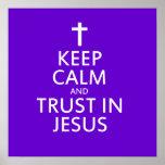 Mantenga la calma y la confianza Jesús Impresiones