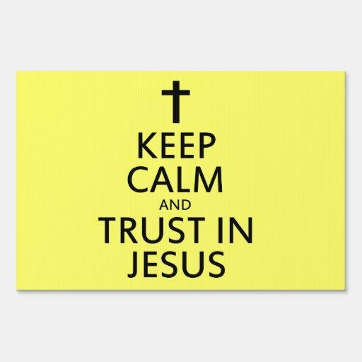 Mantenga la calma y la confianza Jesús Señales