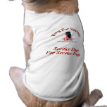 Mantenga la camisa del logotipo de los perros ropa macota