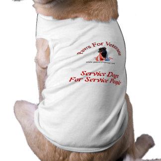 Mantenga la camisa del logotipo de los perros playera sin mangas para perro
