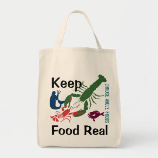 Mantenga la comida real bolsa tela para la compra
