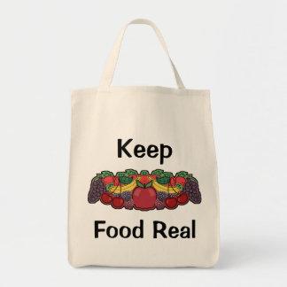 Mantenga la comida real bolsas