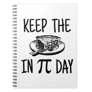 Mantenga la empanada día del pi cuaderno