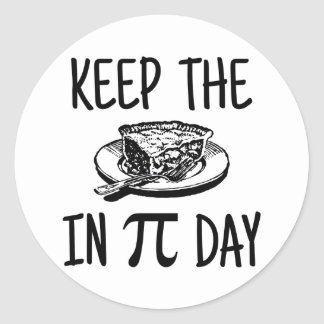Mantenga la empanada día del pi etiquetas redondas
