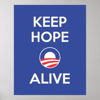 Mantenga la esperanza viva póster