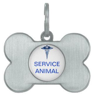 Mantenga la etiqueta animal con el logotipo médico placas de mascota