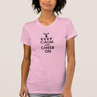 mantenga la realización tranquila y de la alegría camiseta