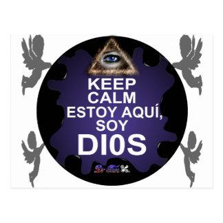 MANTENGA LA SOJA TRANQUILA DIOS DE ESTOY AQUI ADAP POSTALES