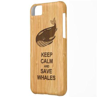 Mantenga las ballenas tranquilas y de la reserva l