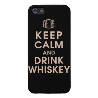 Mantenga las bebidas espirituosas tranquilas y de  iPhone 5 fundas