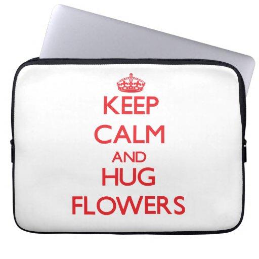 Mantenga las flores tranquilas y del abrazo fundas portátiles