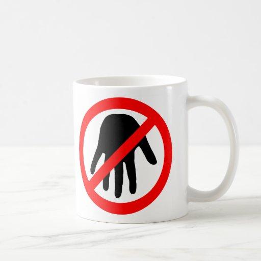 mantenga las manos ausentes tazas