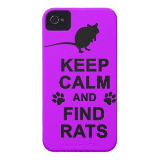 Mantenga las ratas tranquilas y del hallazgo carcasa para iPhone 4
