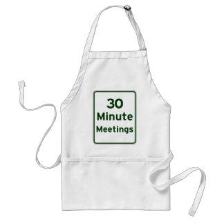 Mantenga las reuniones tan cortas como sea posible delantal