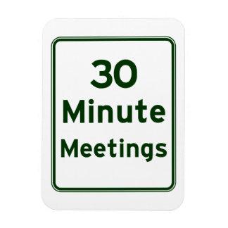 Mantenga las reuniones tan cortas como sea posible imanes rectangulares