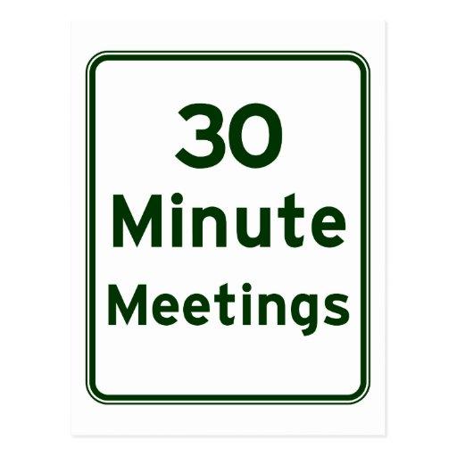 Mantenga las reuniones tan cortas como sea posible tarjetas postales