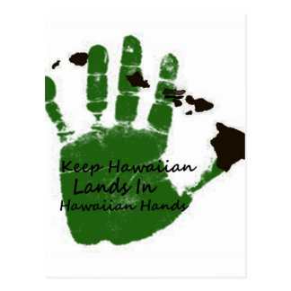 mantenga las tierras hawaianas las manos 1 postal