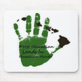 mantenga las tierras hawaianas las manos 1 tapete de ratones