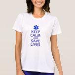 Mantenga las vidas tranquilas y de la reserva camiseta