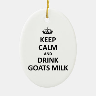 Mantenga leche tranquila y de la bebida de las ornaments para arbol de navidad