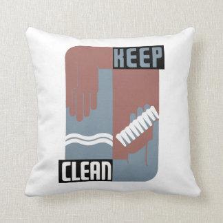 Mantenga limpio almohadas