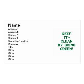 Mantenga limpio por las camisetas y los regalos tarjetas de visita