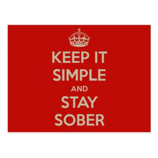 Mantenga lo simple y la estancia Stober Postal